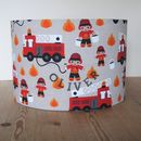 Child's Fire Engine Lampshade
