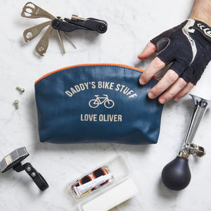 Personalised Leather Bike Tool Bag