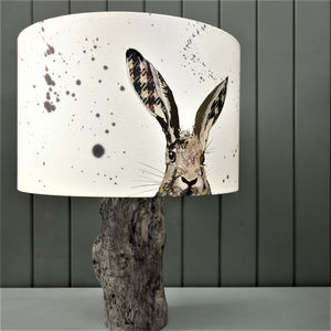 Cloth Eared Hare Lampshade - lamp bases & shades