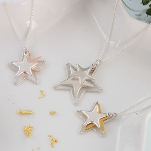 Orsino Silver And Gold Star Necklace