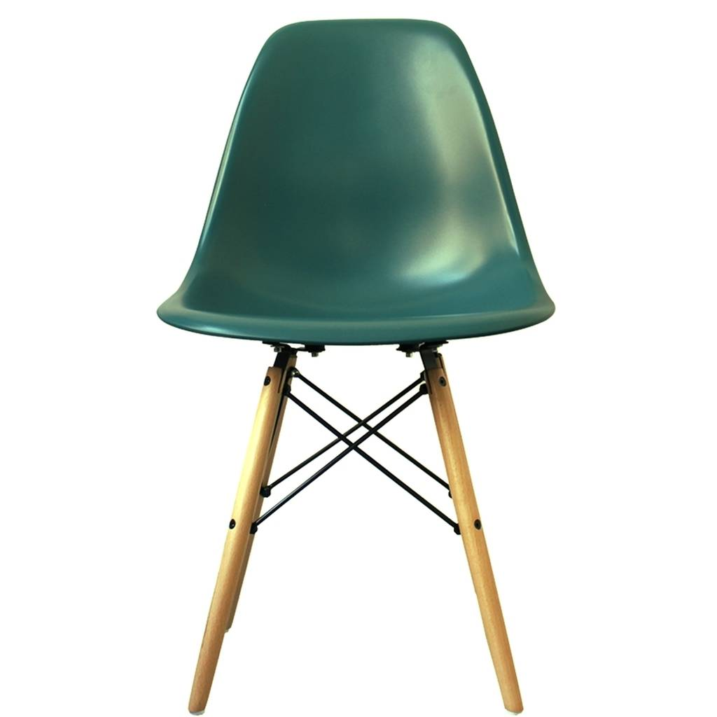 coloured dsw eames style wood base chair 20 colours by cielshop. Black Bedroom Furniture Sets. Home Design Ideas