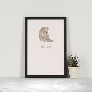Deep Shame – English Bulldog - posters & prints