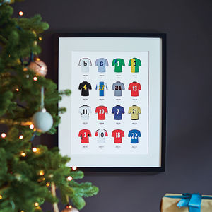 Classic Kits Football Team Print - posters & prints