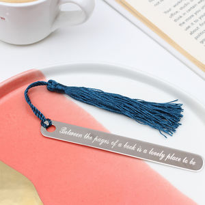 Personalised Sterling Silver Hallmarked Bookmark - desk accessories