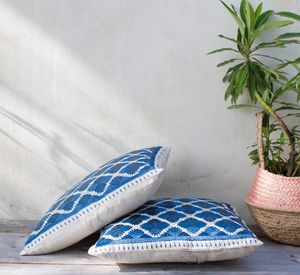 Blue And White Cushions - cushions
