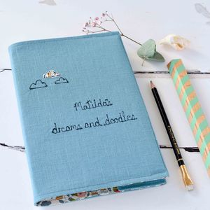 Personalised Dreams And Doodles Notebook