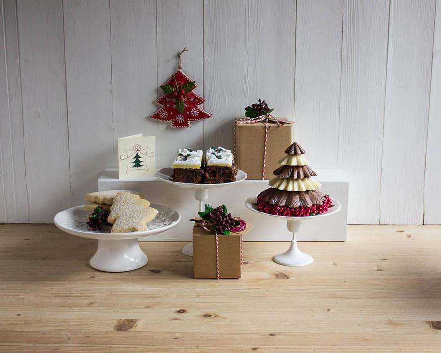Festive Chocolate Tree Trio Hamper By Message Muffins