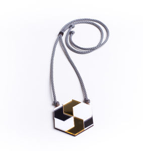 Hex Op Art Pendant - necklaces & pendants