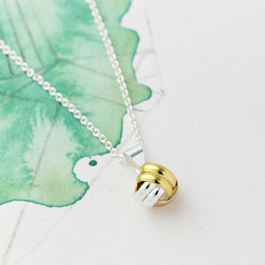Friendship Knot Gold And Silver Necklace