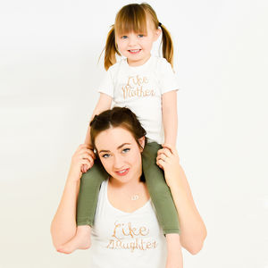 'Like Mother Like Daughter' Matching T Shirt Set - clothing