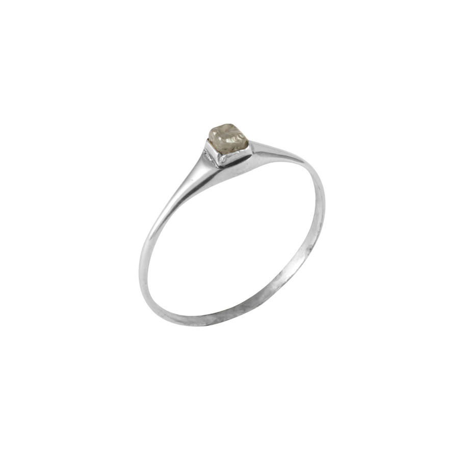 with neal rough bario diamond ring raw rings avens asymmetrical