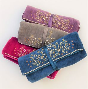 Beaded Velvet Jewellery Roll - jewellery storage & trinket boxes