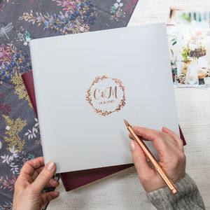 Wreath Wedding Guest Book Or Photo Album - best wedding gifts