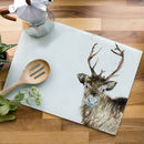 Inky Reindeer Glass Worktop Saver
