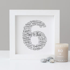 Personalised 6th Anniversary Print - posters & prints