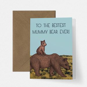 Cute Mummy Bear Mothers Day Card