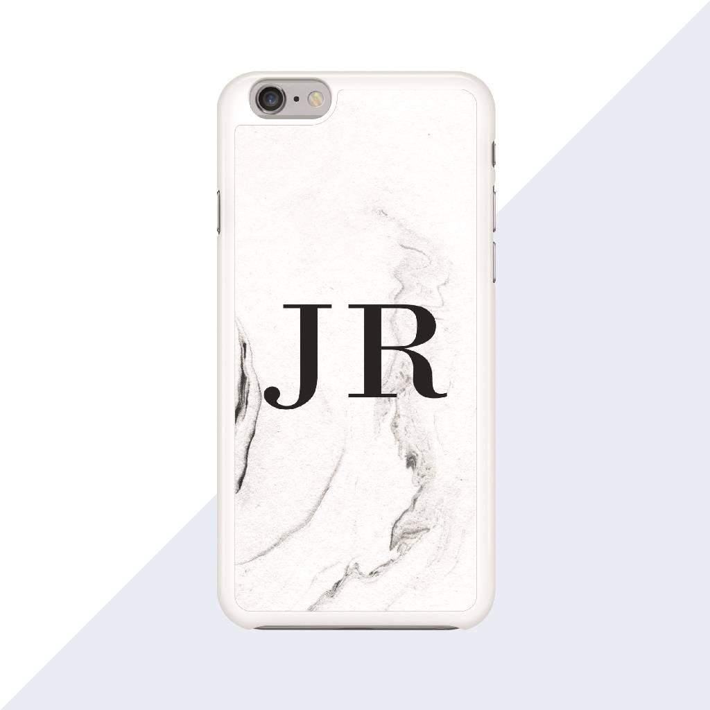 Personalised Marble Monogram Phone Case