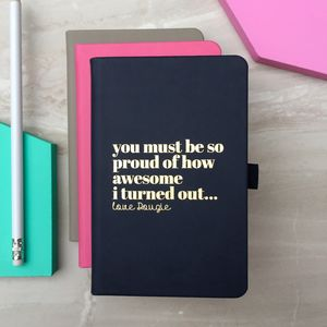 Personalised 'I Am Awesome' Notebook - personalised mother's day gifts