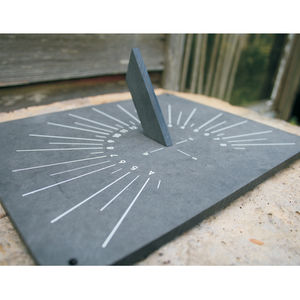 Eco Friendly Horizontal Sundial - gifts for the garden