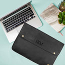 Personalised Black Leather Oslo Macbook Sleeve/Case