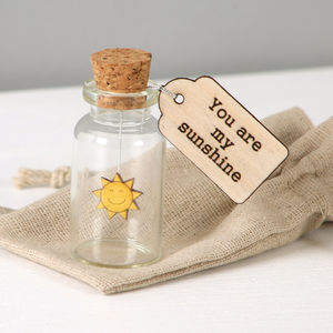 You Are My Sunshine Keepsake Message Bottle - keepsakes