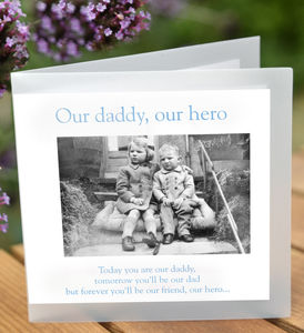 'Our Daddy, Our Hero' Greeting Card - last-minute cards & wrap
