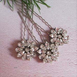 Alice Crystal Bridal Hair Pins - new in wedding styling