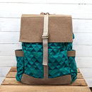 Vegan Back Pack | Teal Tipis