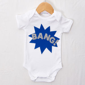 'Bang!' Babygrow - clothing