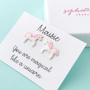 Personalised Unicorn Earrings - earrings