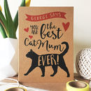 Personalised Best Cat Mum/Dad Ever Card