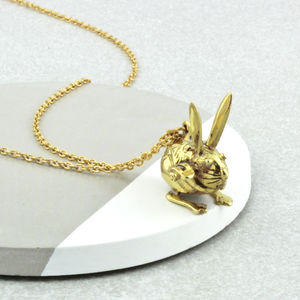 Crouching Rabbit Necklace - baby & child sale