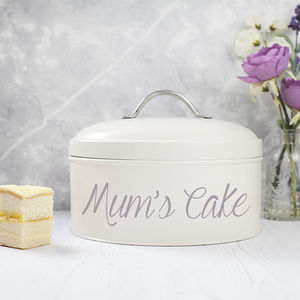 Personalised Cake Tin - gifts for friends