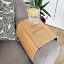 Personalised Reserved For Wooden Sofa Armchair Tray