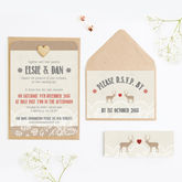 Lace Stag Christmas Wedding Invitations - weddings