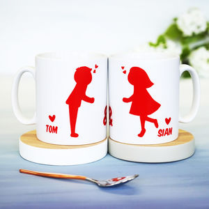 Personalised Kissing Couples Mug - valentine's gifts for him