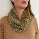 Knitted Geometric Snood Scarf
