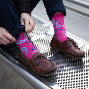 Paisley Pink Gender Equality Bamboo Sock - women's fashion