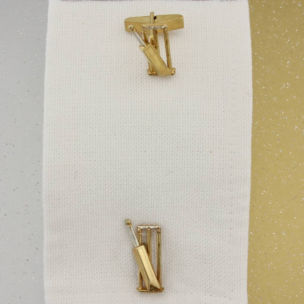 Cricket Silver And Gold Cufflinks