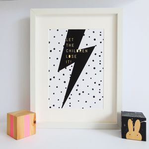 'Let The Children Lose It' Bowie Print