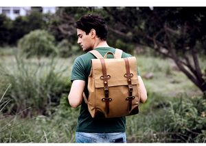 Personalised Classic Style Canvas Backpack - new gifts for him