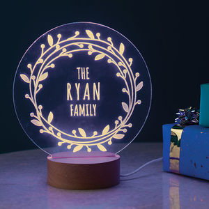 Personalised Family Light - housewarming gifts