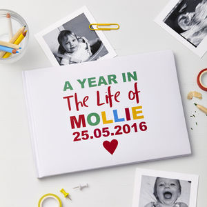 'My First Year' Personalised Photo Album - keepsakes