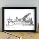 Personalised Oslo Cityscape Skyline Art Print