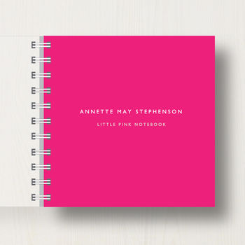 Personalised Little Pink Notebook