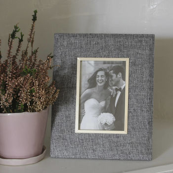 Grey Linen Photo Frame