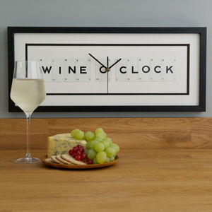 Wine O Clock Frame Clock - clocks