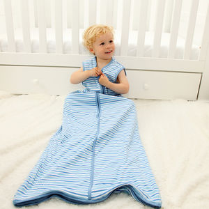 All Year Simply Sleeping Bag Blue Stripes