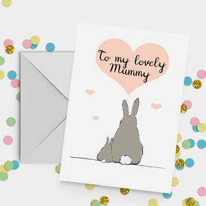 'My Lovely Mummy' Rabbit Mother's Day Card