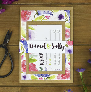 Purples Floral Wedding Invitation Bundle - what's new